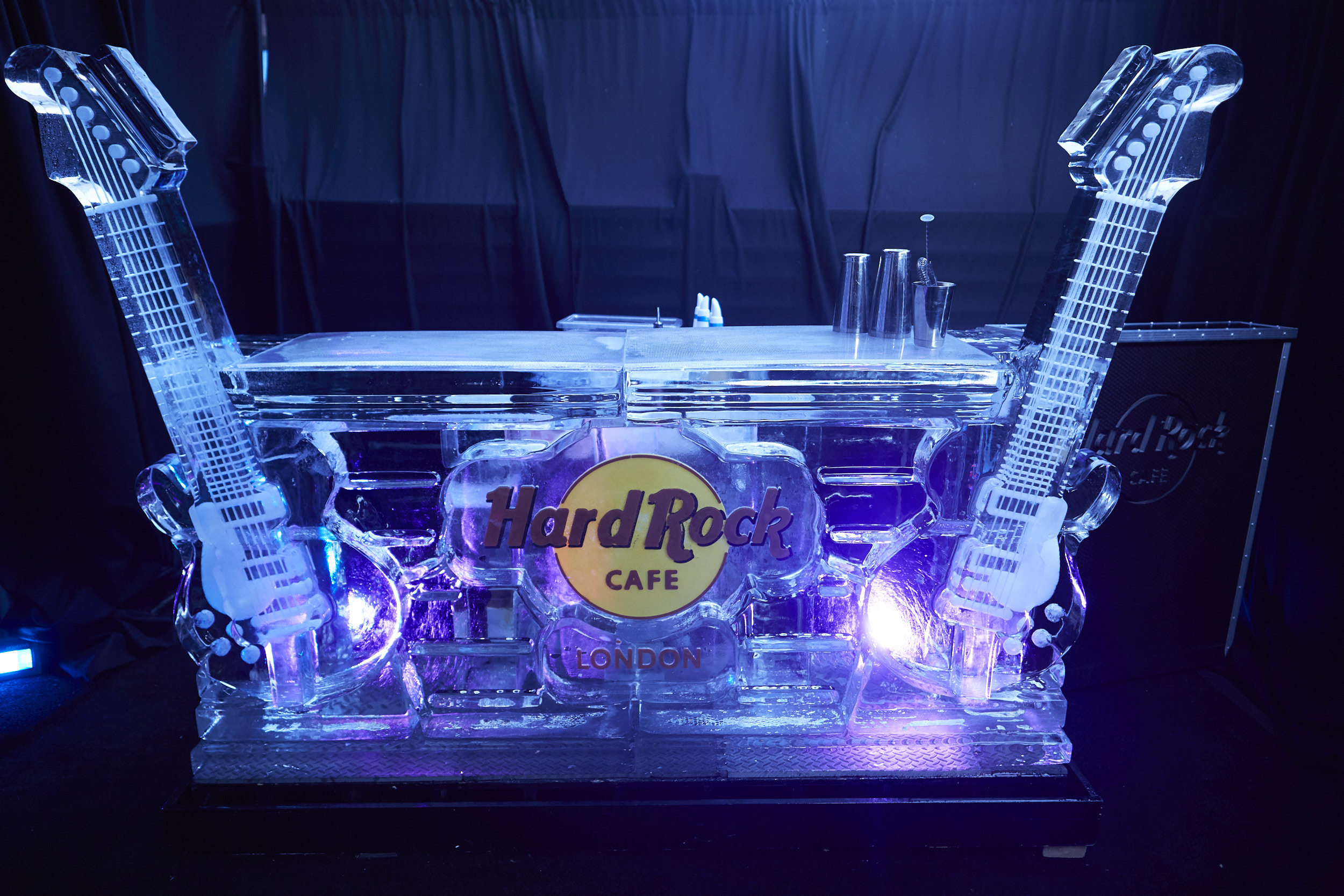 Hard Rock Cafe ice bar serving up delicious milkshakes.